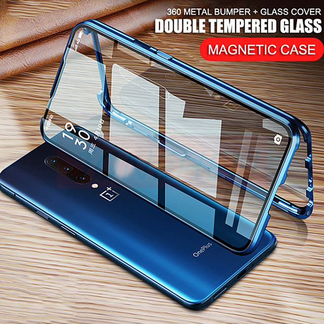 Magnetic Case for OnePlus OnePlus Nord OnePlus 8 8Pro OnePlus 7 7Pro 360 Protection Double sided Tempered Glass Metal Magnet Adsorption Protective Phone Case