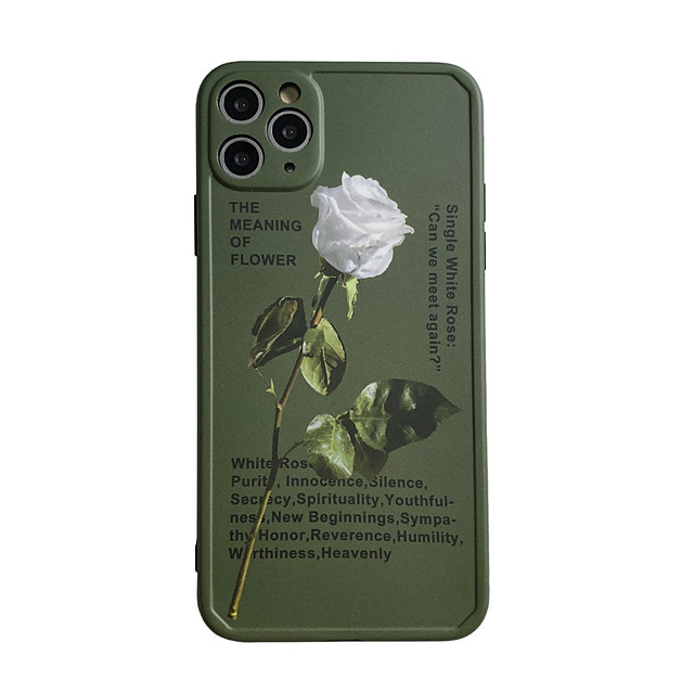 Case For Apple iPhone 7 plus 8 plus XR XS XS MAX X SE 11 11Pro 11ProMax Pattern Back Cover TPU Flower
