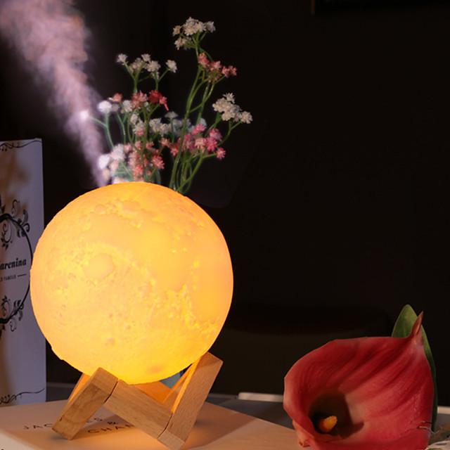Creative Led Lunar Lamp Humidifier Usb Charging Humidifier Mini Led Lamp 3D Lunar Night Lamp Humidifier