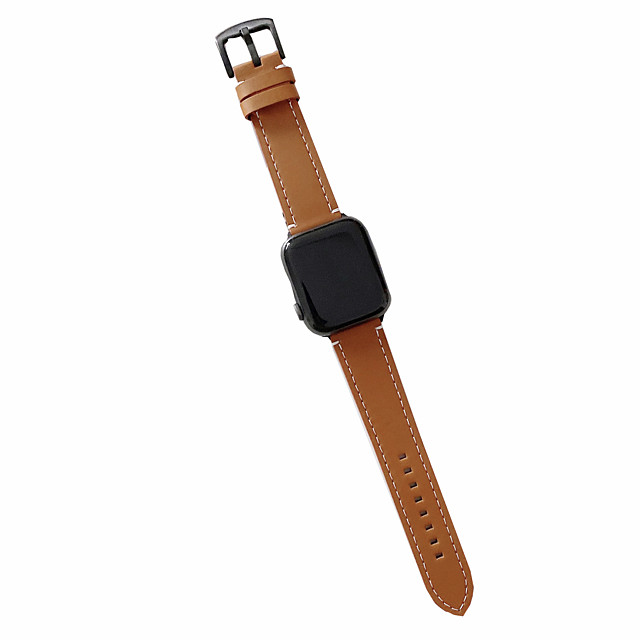 Watch Band for Apple Watch Series 6 SE 5 4 3 2 1  Apple Business Band Genuine Leather Wrist Strap