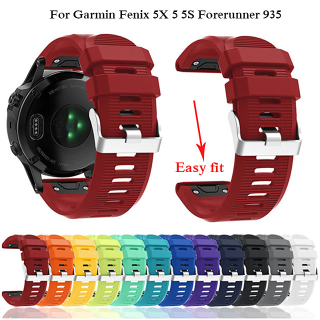 Watch Band for Fenix 5x / Fenix 5s / Fenix 5 Garmin Modern Buckle Silicone Wrist Strap