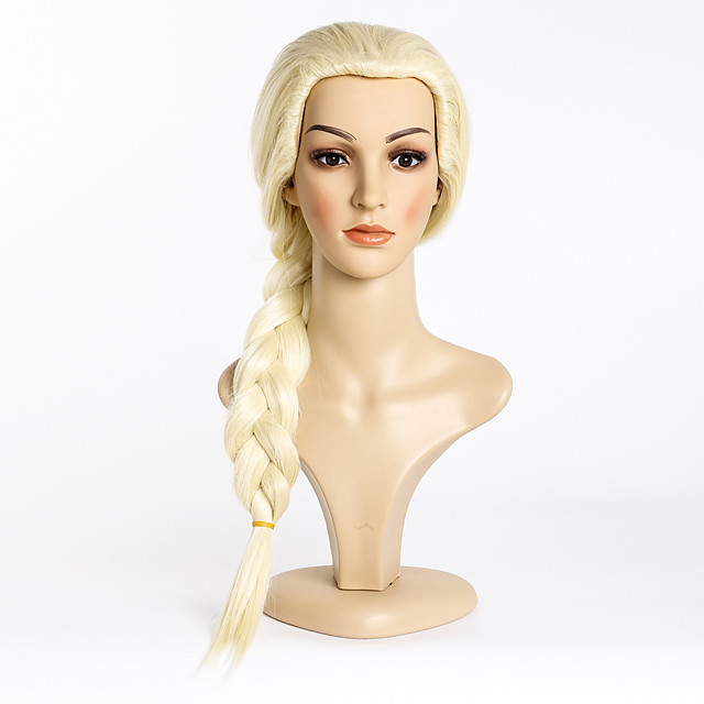 Synthetic Wig Straight Braid Wig Very Long Light Blonde Synthetic Hair 28 inch Women's Classic Faux Locs Wig Exquisite Blonde