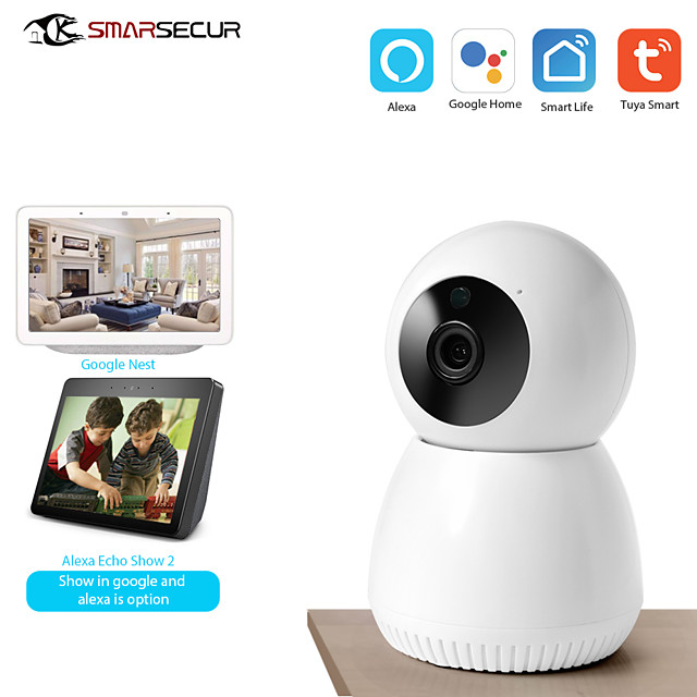 2MP WiFi IP Camera 1080P Home Security WiFi Tuya Camera Google/Alexa for option