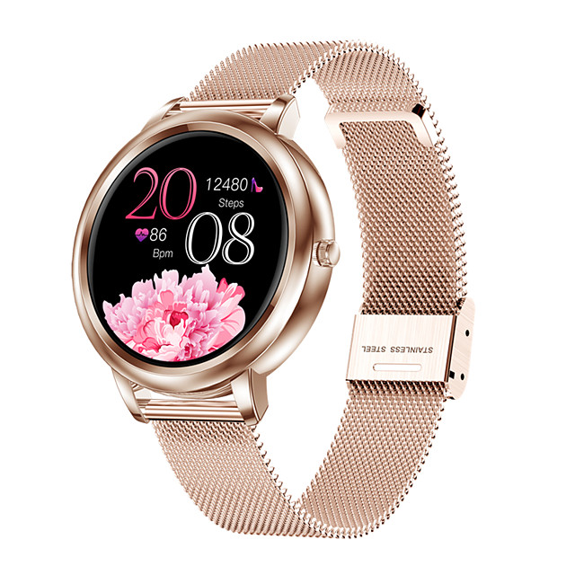 Smart Watch MK20 Fashion Women's Watch Heart Rate and Blood Pressure Monitoring IP67 Waterproof Smart Bracelet for Android/ iPhone/ Samsung Phones