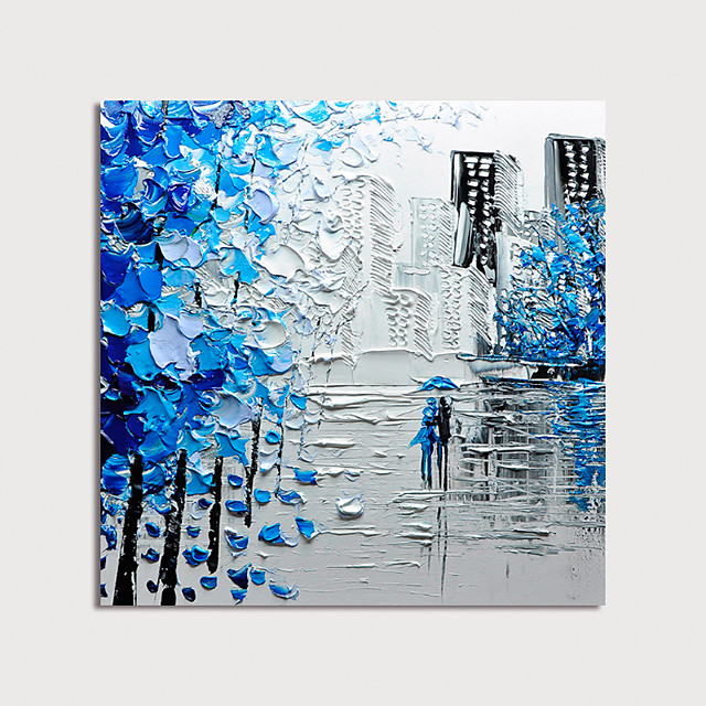 Oil Painting Hand Painted - Abstract Modern Stretched Canvas