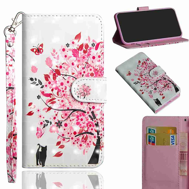 Case For Samsung Galaxy S20 S20 Plus S20 Ultra Wallet Card Holder with Stand Full Body Cases Tree Cat PU Leather TPU for Galaxy A21 A11 A01 A51 A71 A41 A31 A21S