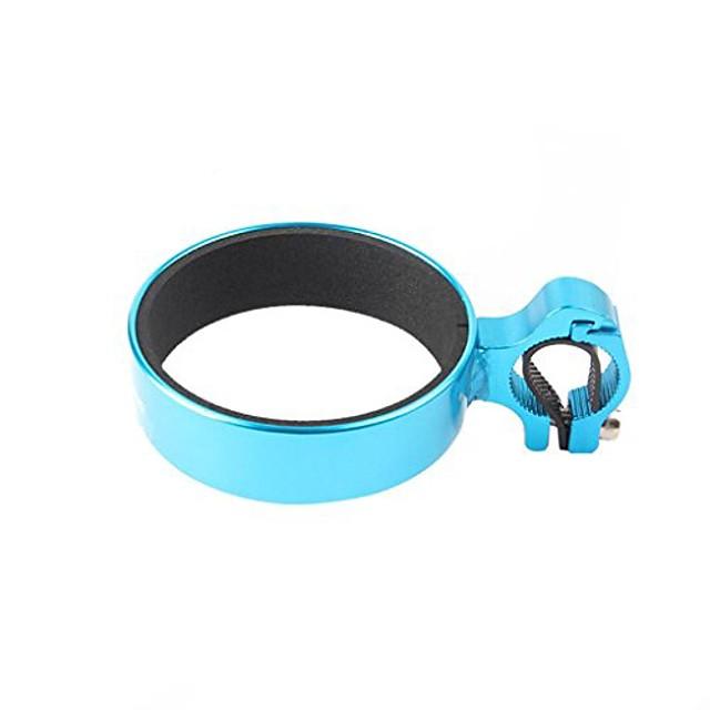 aluminum bicycle cup holder handlebar clamp mount coffee travel mug drink holder (blue)