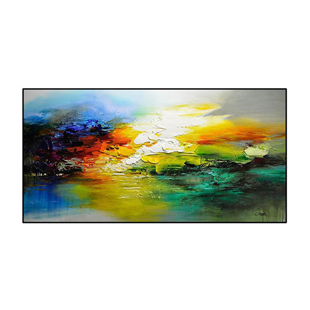 Oil Painting Hand Painted - Abstract Still Life Modern Rolled Canvas (No Frame)