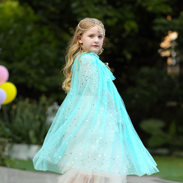 Princess Cosplay Costume Party Costume Girls' Movie Cosplay Halloween White / Purple / Blue Cloak Christmas Halloween Carnival Polyester / Cotton Polyester