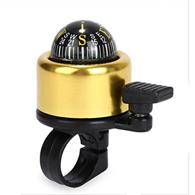 bicycle bell 5 colors mini aluminum alloy bike bell loud crisp clear sound bike ring horn accessories (gold)