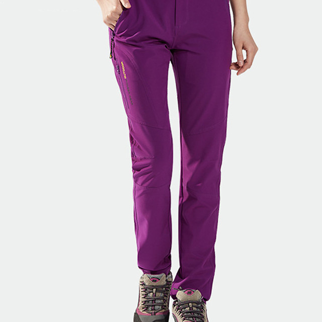 Women's Hiking Pants Trousers Solid Color Outdoor Standard Fit Waterproof Breathable Quick Dry Soft Elastane Pants / Trousers Cargo Pants Bottoms Black Purple Khaki Hunting Fishing Climbing M L XL