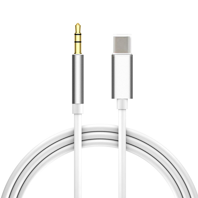 Type-C to 3.5mm audio aux jack adapter USB C to 3.5mm audio cable car aux cable headset adapter