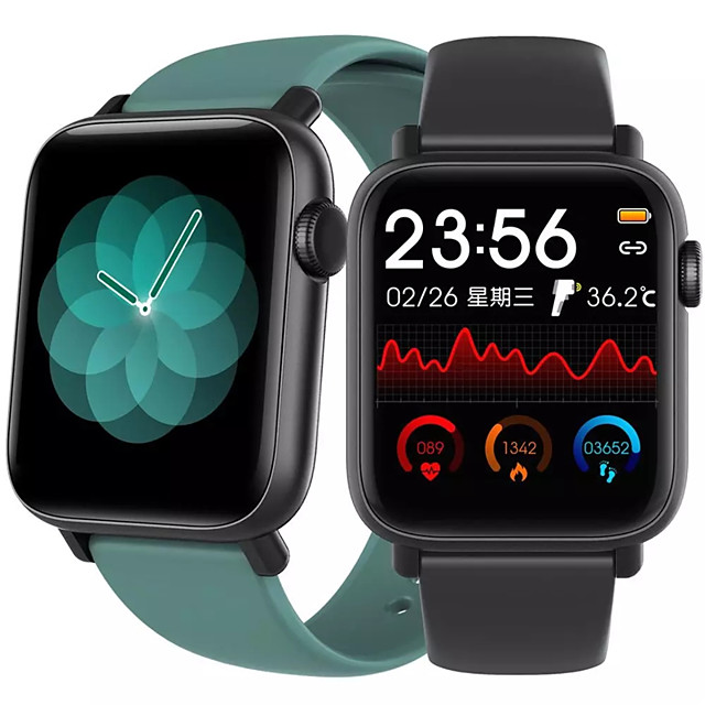 QS19 Smartwatch for Apple/Android/Samsung Phones, Sports Tracker Support Heart Rate/Blood Pressure Measure