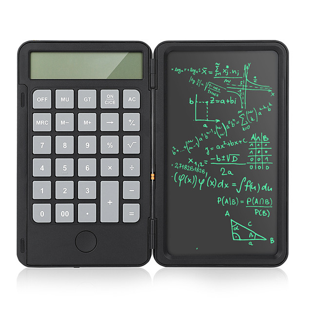 6.5 inch 2 in 1 Rechargeable Calculator Writing Tablet Portable Smart LCD Graphics Writing Tablet Drawing Paperless Tablet