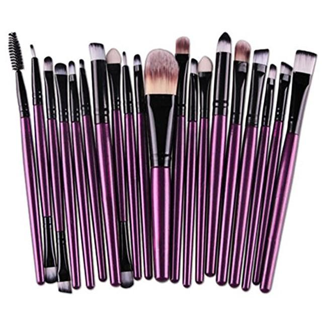 clearance sale!  20 pcs makeup brush set tools make-up toiletry kit wool make up brush set (d)