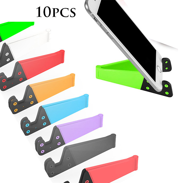 10Pcs Universal Desktop Stand Colorful Portable Foldable V model Mobile Phone Mount Holder Stand Cradle For Cell Phone
