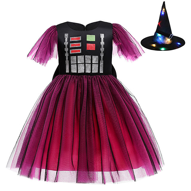 Princess Cosplay Costume Costume Girls' Movie Cosplay Euramerican Vacation Dress Black Dress Hat Christmas Halloween Carnival Polyester / Cotton Polyester