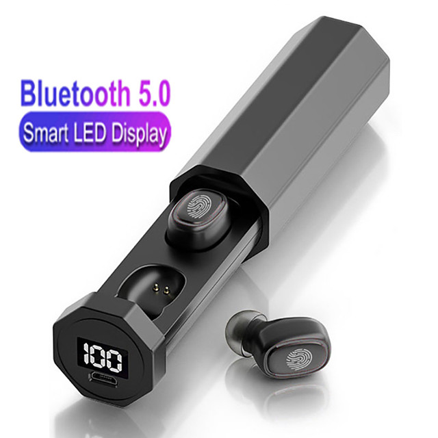 LITBest LX_201 Wireless Earbuds TWS Headphones Bluetooth5.0 with Microphone with Charging Box for Travel Entertainment