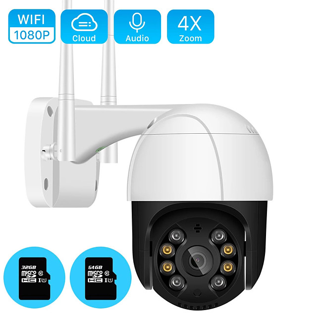 1080P PTZ Wifi IP Camera 4X Digital Zoom AI Human Detect Wireless Camera Outdoor H.265 P2P ONVIF Audio 3MP Security CCTV Camera