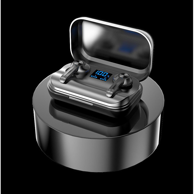 LITBest M18 Pro TWS Wireless Earbuds Bluetooth5.0 Stereo Headphones with Charging Box Waterproof IPX7 for Travel Entertainment
