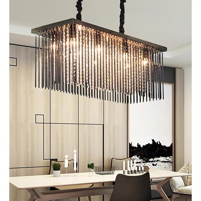 80 cm Premium Crystal Chandelier Pendant Light Stainless Steel Modern Island Light 110-120V 220-240V