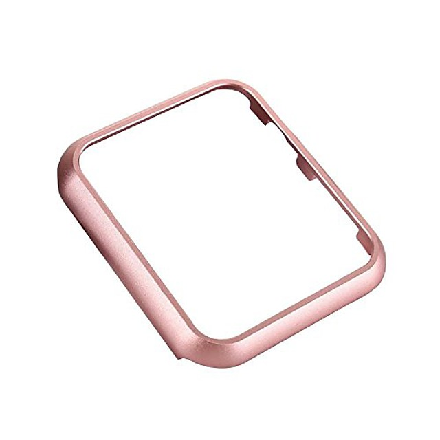 5-pack apple watch case  aluminum protective bumper frame cover for apple watch series 3, series 2, series 1, sport and edition anti-scratch [only 3g lightweight] (38mm rose pink)