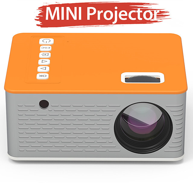 480*270 Mini Projector 16.7M Audio Portable Projector Home Media Video Player Video Home Cinema 3D HDMI Movie Game Projector