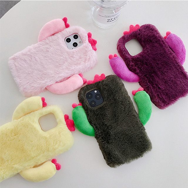 Case For iPhone 11  Shockproof Back Cover Plush TPU/Solid Colored  For iPhone 11 Pro Max/X/XS/XR/XS Max/6 6S 7 8  Plus/SE 2020