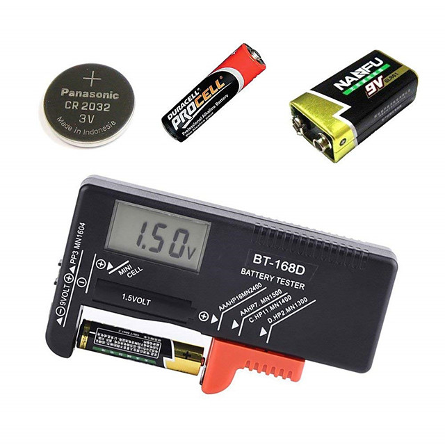 Digital Battery Capacitance Diagnostic Tool LCD Screen Battery Tester Universal AAA AA Button Cell Tester