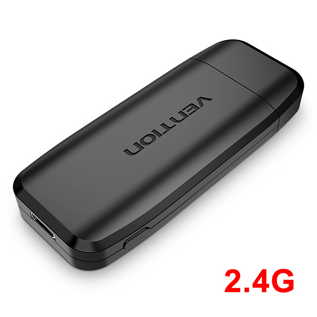 Vention Wireless HDMI TV Receiver 2.4G WiFi Display Projector 4K HD TV Dongle Smart Stick for Android IOS Wireless Adapter TV