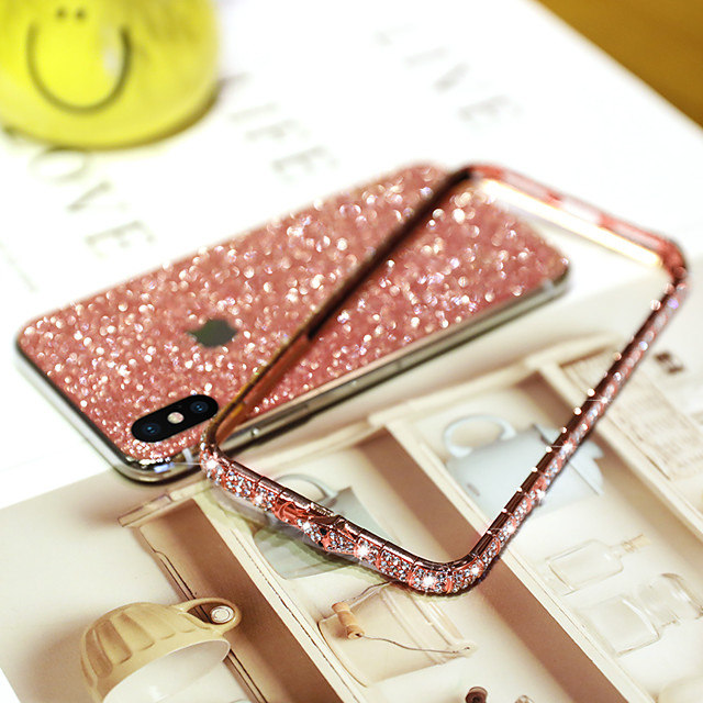 Phone Case For Apple iPhone 11 / iPhone 11 Pro Max / iPhone SE (2020) / iPhone XR / iPhone XS Max / iPhone 7/8 Plus Rhinestone Glitter Shine Back Cover TPU