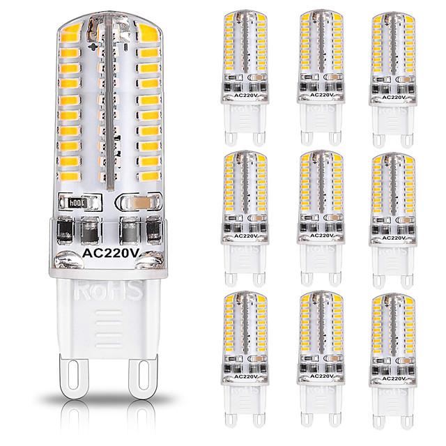 G9 80LED 600-700LM 7W 5730SMD Dimmable LED Bi-pin Lights Warm White Cool White Led Corn Bulb Chandelier Lamp AC 110-220V