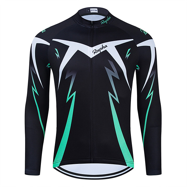 WECYCLE Men's Women's Long Sleeve Cycling Jersey Winter Polyester Black Bike Jersey Top Mountain Bike MTB Road Bike Cycling Breathable Quick Dry Reflective Strips Sports Clothing Apparel / Stretchy