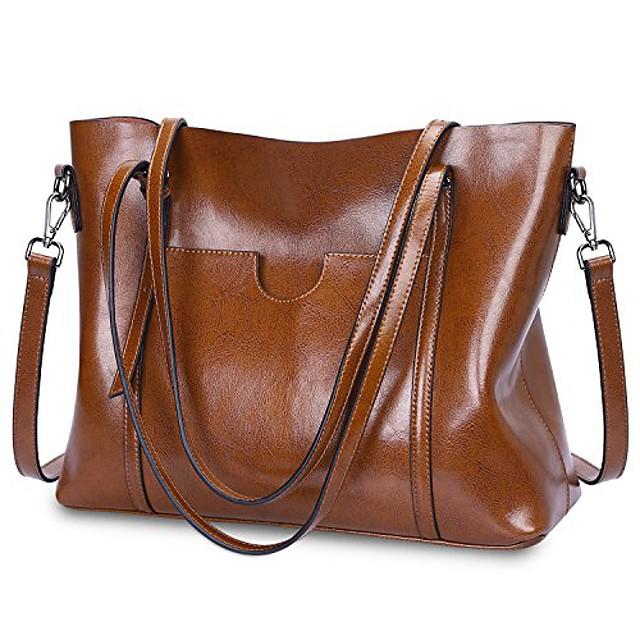 Women's Bags PU Leather Tote Top Handle Bag Zipper Causal Outdoor Handbags Light Blue Pink Black Green