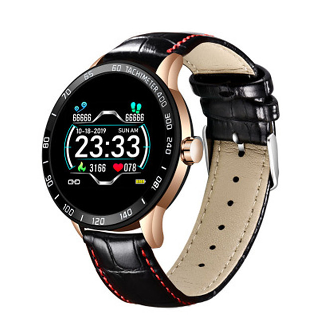 New fashion leather smart watch men sport Fitness tracker Pedometer watch Heart rate blood pressure smartwatch reloj inteligente