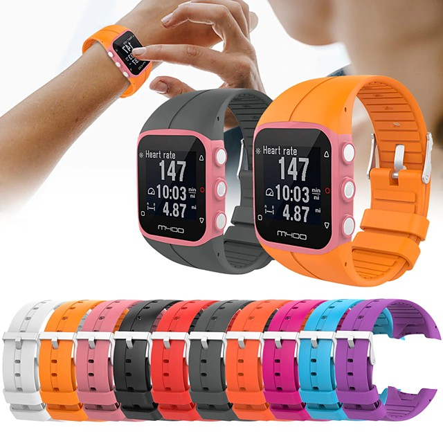 Sport Silicone Watch Band for Polar M400 / M430 Replaceable Bracelet Wrist Strap Wristband