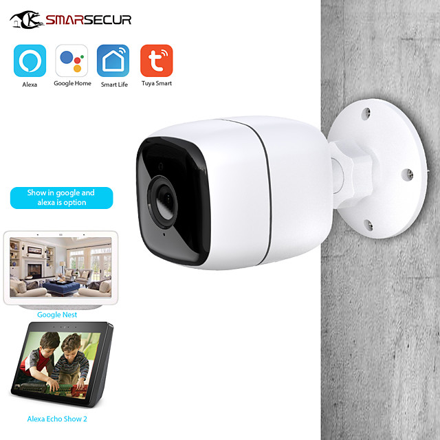 Tuya Smart life WiFi IP Camera 1080P Home Security Outdoor Camera Night Vision Infrared Two Way Audio IP66 Waterproof