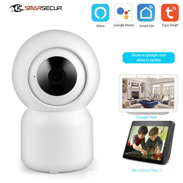 SMARSECUR WiFi Security Camera 1080P Home Security HD CCTV Camera Tuya Smart life Auto-tracking