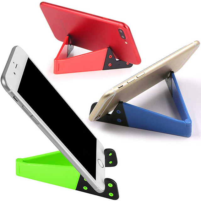 1Pcs Universal Desktop Stand Colorful Portable Foldable V model Mobile Phone Mount Holder Stand Cradle For Cell Phone