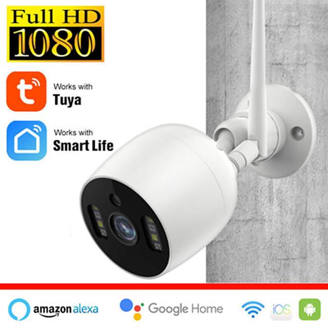 Tuya Smart Life  HD 2 mp IP Camera IP66 Waterproof Outdoor Two-way Speaking Audio Night Detection Support 128 GB