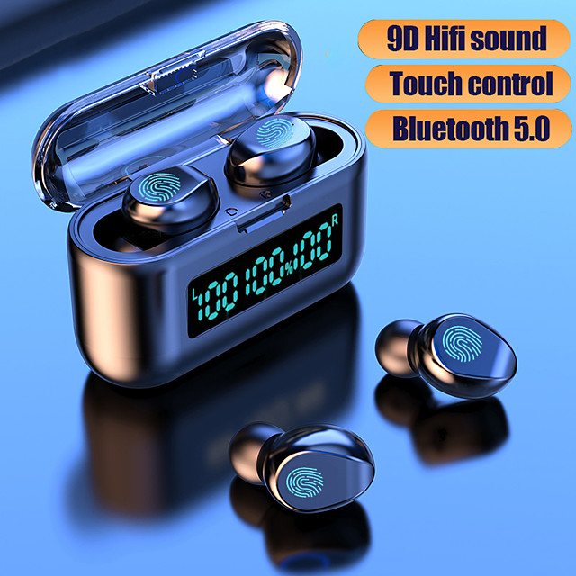 F9-39 Wireless Earbuds TWS Headphones Bluetooth5.0 Stereo with Volume Control with Charging Box Mobile Power for Smartphones Smart Touch Control for Mobile Phone