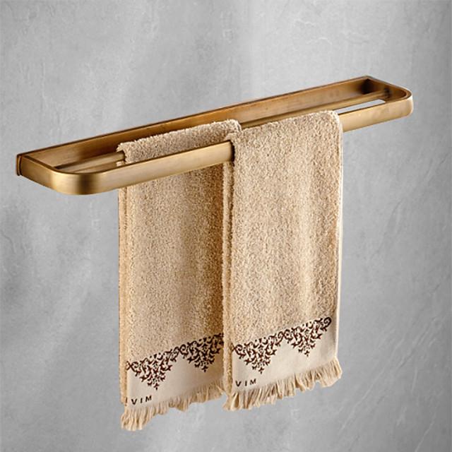 ราวแขวนผ้าห้องน้ำทองเหลืองเคลือบร่วมสมัยชั้นสองชั้นสำหรับใช้ในครัวเรือน 1 ชิ้น