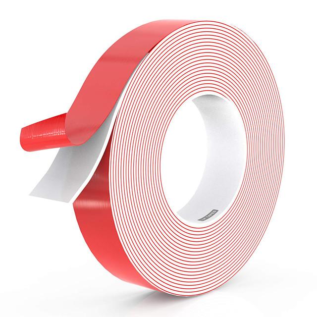 양면 접착 방수 폼 테이프 10mm 너비 및 다양한 길이 헤비 듀티 이동식 잔류 물이없는 실내 LED 조명 스트립