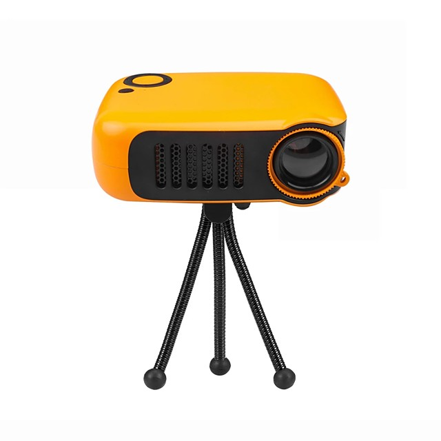 Mini Portable Projector 320*240P Supports 1080P LCD 50000 Hours Lamp Life Home Theater Video Projector for Power Bank EU/US Plug