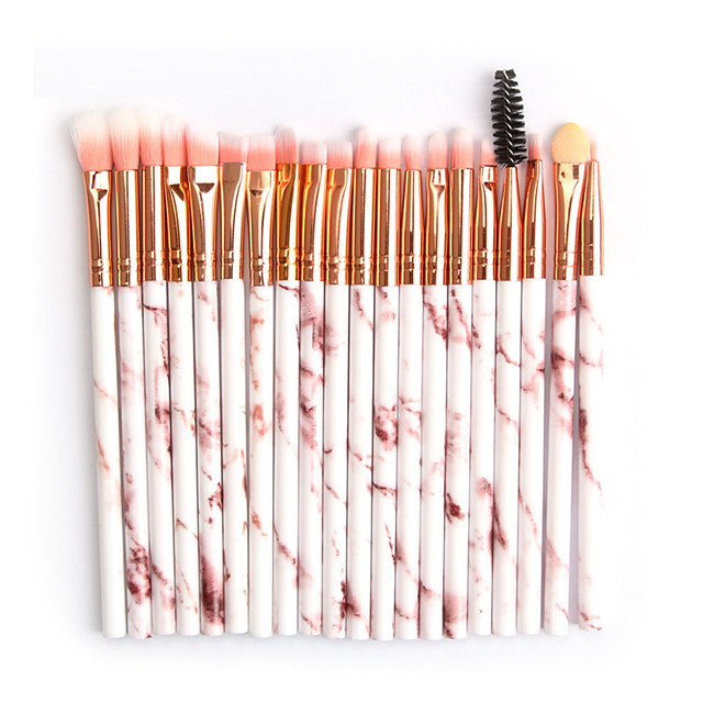 20 Pieces of Marbled Eye Makeup Brush Beauty Tool Eye Shadow Brush Soft and Comfortable