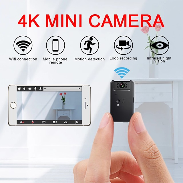 Hidden Spy Camera Mini 4k Wifi Camera Smart Wireless Camera Access Point Hd Night Vision Video Small Micro Camera Motion Detection Vlog Spy