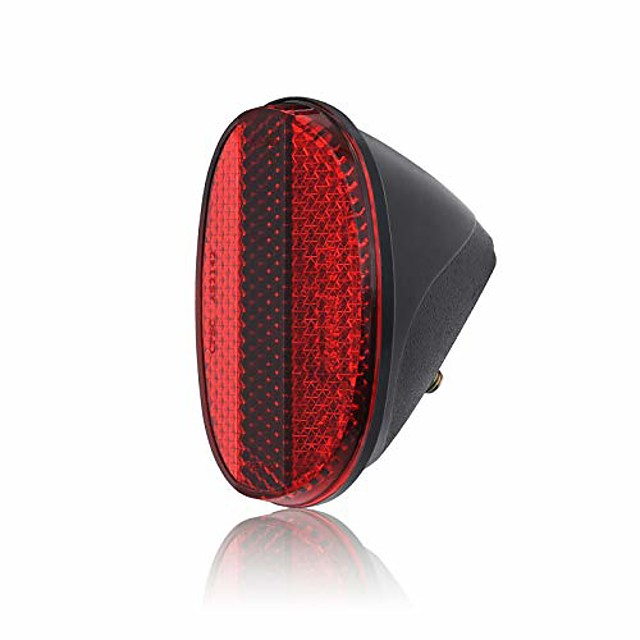 red oval rear bicycle mudguard fender cycling safety warning reflectors (red)