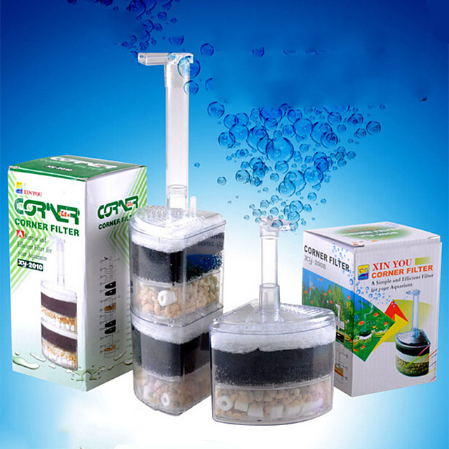 Reusable Tank Corner Aquarium Air Bubble Filter Under Water Air Driver Filter Internal Sponge Super Air Bubble  Filter