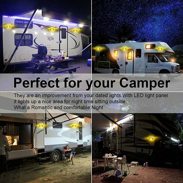 1 Pcs 3.5W 12V 24 LED Camper RV Exterior Interior Porch Utility Trailer Van Oval Light