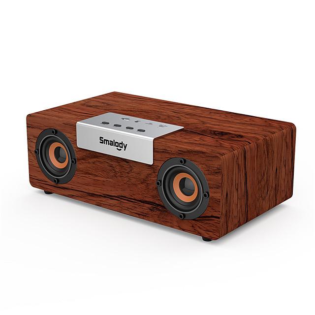 High Power Bass Bluetooth Speaker Portable Wooden Wireless Speaker Stereo Outdoor Subwoofer TWS Function